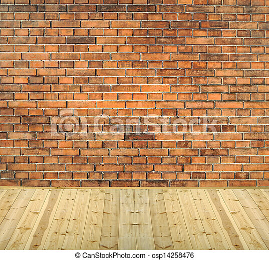 wood floors background. Room Interior Vintage With White Brick Wall And Wood Floor Background  Csp14258476 Room