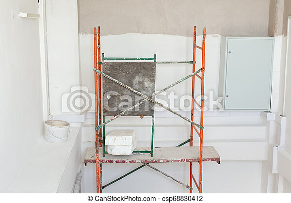 Room is under renovation or under construction. - csp68830412