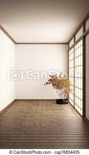 Room Japan Style - Mock up interior design. 3d rendering - csp76834435