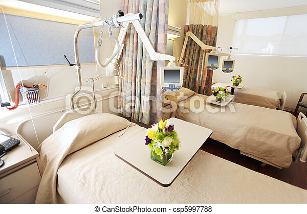 Room with beds in hospital - csp5997788