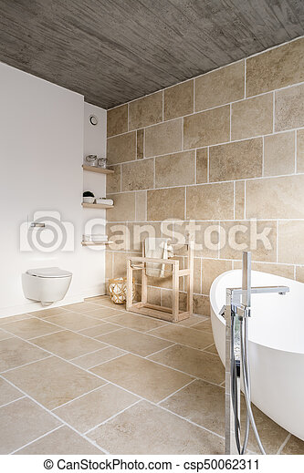 Roomy minimalistic bathroom - csp50062311