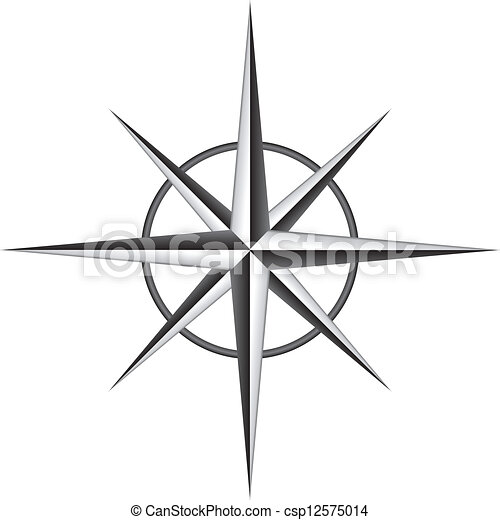 roos, vector, illustratie, kompas - csp12575014