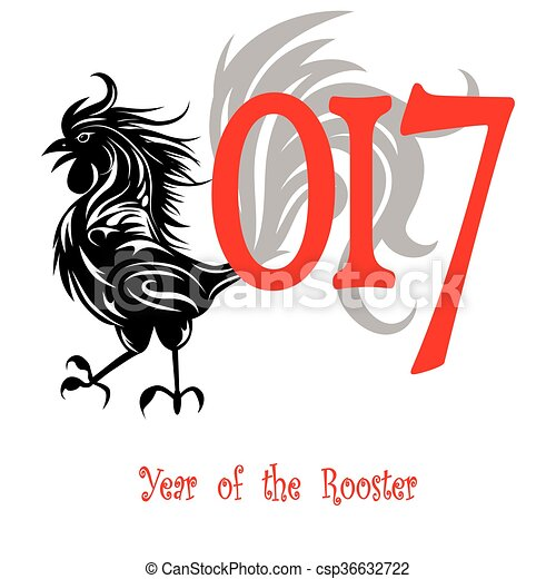 rooster bird concept of chinese new year of the rooster vector rh canstockphoto com