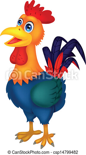 Rooster cartoon - csp14799482
