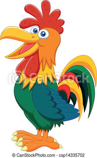Rooster cartoon - csp14335702