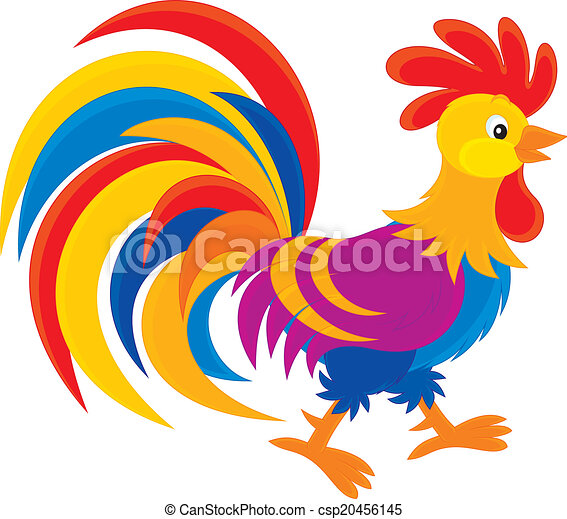 rooster colorful cock  vector clip art on a white background chicken clip art animation chicken clipart images