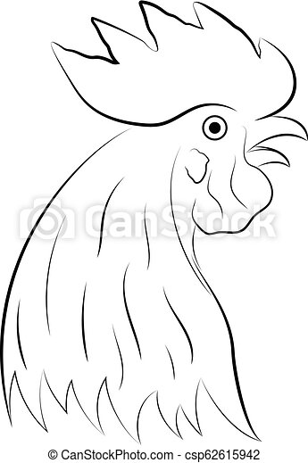 chicken rooster head logo template vector illustration
