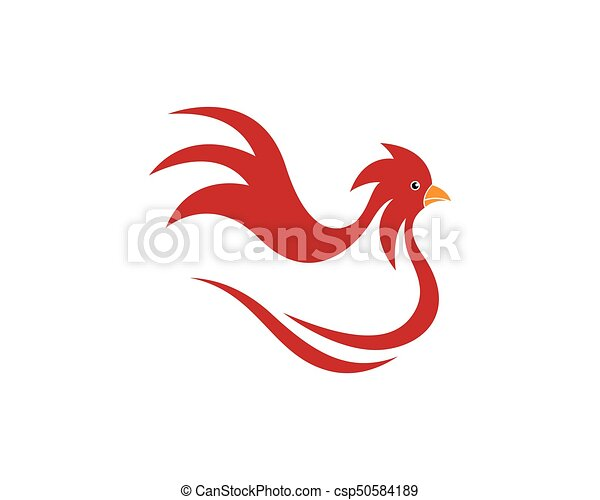Rooster logo template vector illustration.
