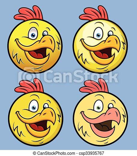 Rooster Smiley Set - csp33935767