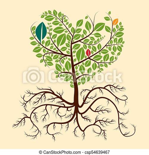 Roots Tree. Vector. - csp54639467