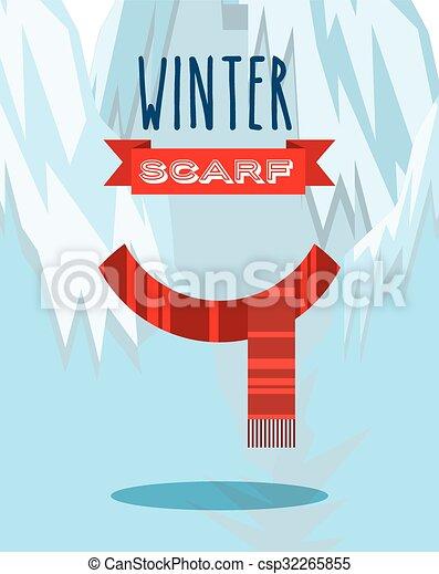 Diseño de ropa de invierno - csp32265855