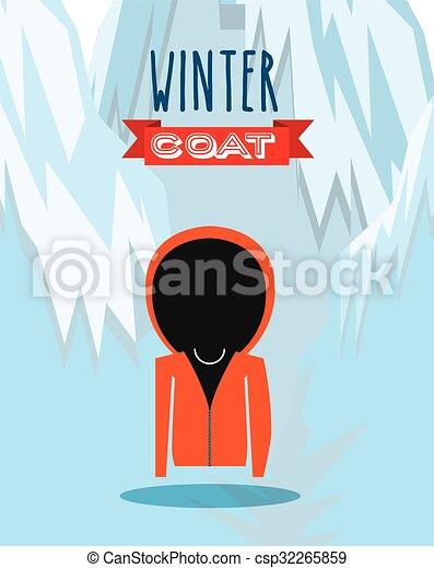Diseño de ropa de invierno - csp32265859