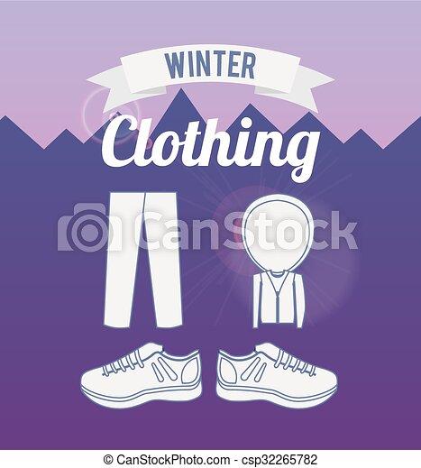 Diseño de ropa de invierno - csp32265782