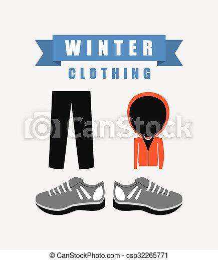Diseño de ropa de invierno - csp32265771