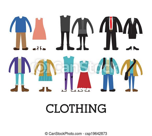 Diseño de ropa - csp19642873