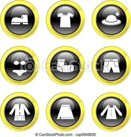 iconos de ropa - csp0849930