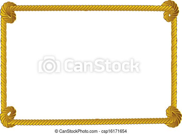 Rope border - csp16171654