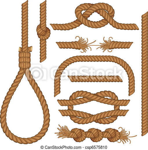 rope elements set of seamless rope elements easy editable colors rh canstockphoto com jump rope clipart rope clipart png