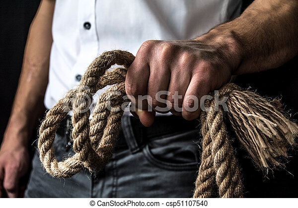 rope in the hand - csp51107540