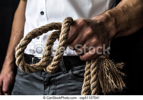 rope in the hand - csp51107541
