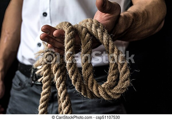 rope in the hand - csp51107530