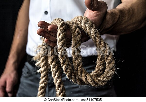 rope in the hand - csp51107535