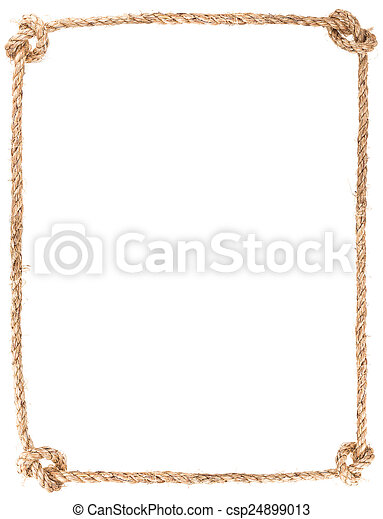 rope knot frame - csp24899013