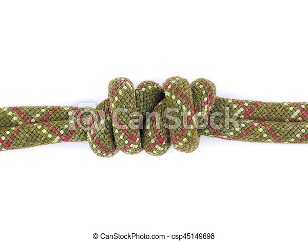rope knot on a white background - csp45149698