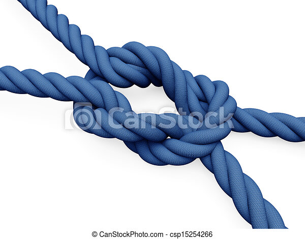 Rope knot - csp15254266