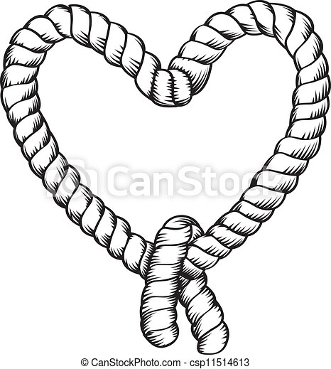 rope making heart shape vector clip art search illustration rh canstockphoto com rope clipart images rope clipart free