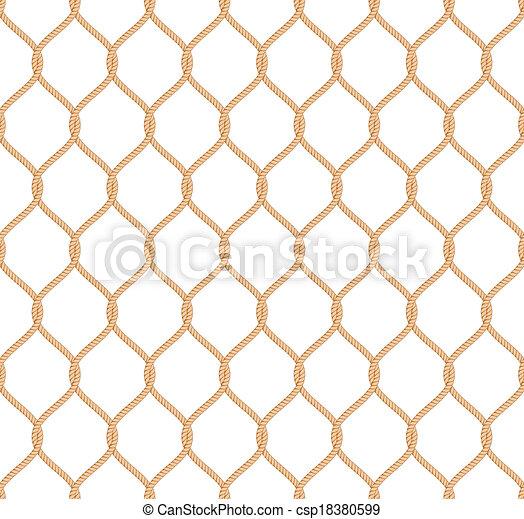 Rope marine net pattern - csp18380599