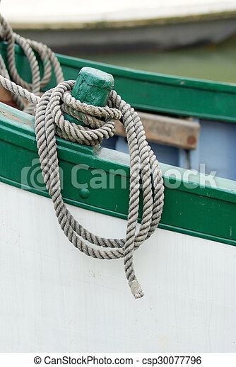 rope on boat - csp30077796