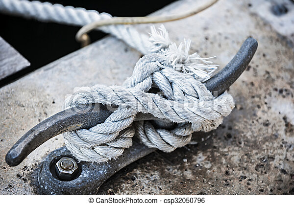 Rope on cleat - csp32050796