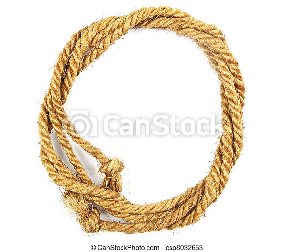 Rope on white background - csp8032653