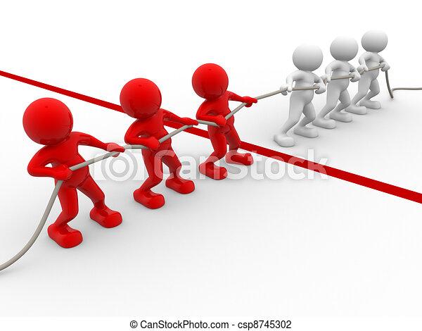 Rope pulling - csp8745302