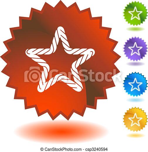 Rope Starburst Icon Set - csp3240594