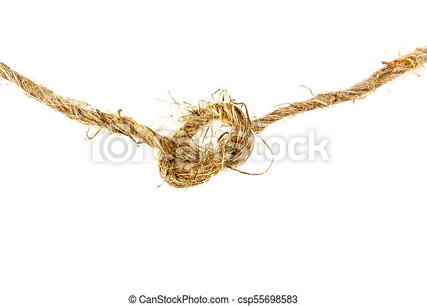 rope twine knot on a white background - csp55698583