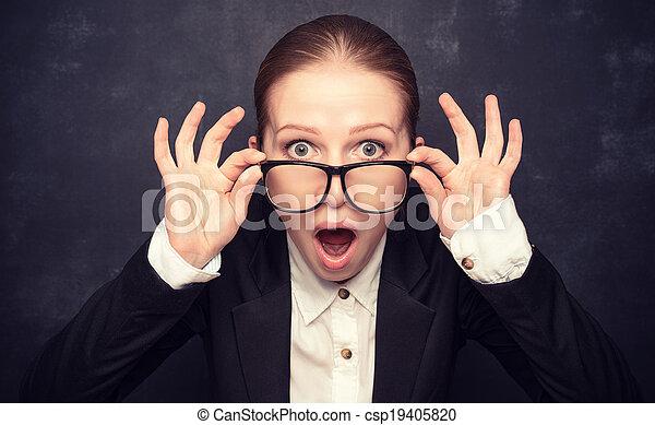 ropen, rolig, lärare, snopen, glasögon - csp19405820