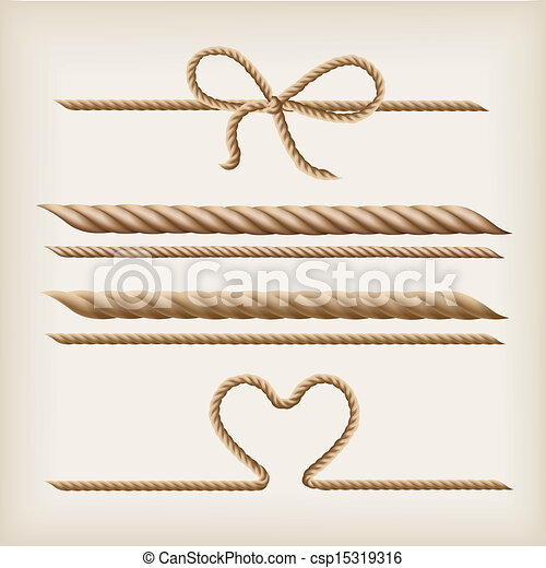 Ropes and bow - csp15319316
