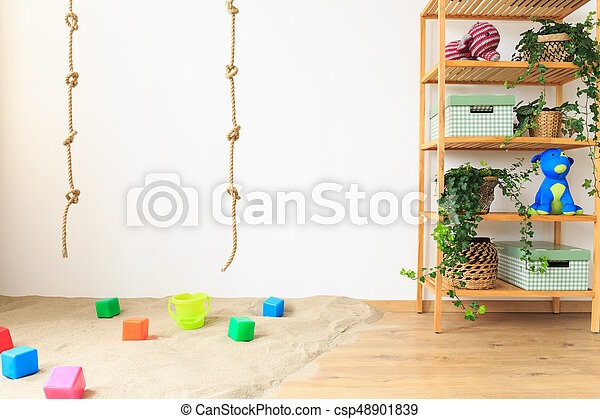 Ropes in baby room - csp48901839