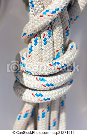 ropes in luxury sail boat - csp21271912