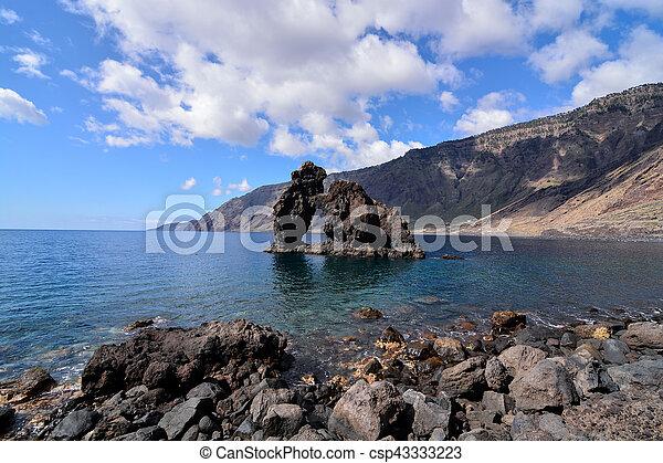 Roque de Bonanza beach in El Hierro - csp43333223