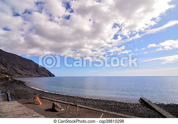 Roque de Bonanza beach in El Hierro - csp39810298