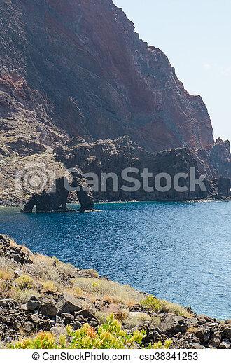 Roque de Bonanza in El Hierro. - csp38341253