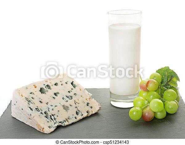 roquefort cheese in studio - csp51234143