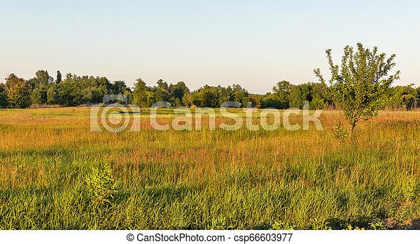 Ros river valley landscape at sunset, Ukraine. - csp66603977