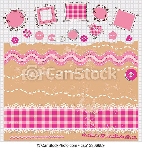 Un kit de álbumes rosas - csp13306689