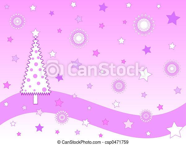 Árbol rosa de Navidad - csp0471759