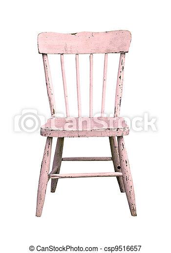 rosa, årgång, stol, barn