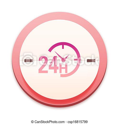 rosa, 300, serie, sopra, icona, selectable, intero - csp16815799